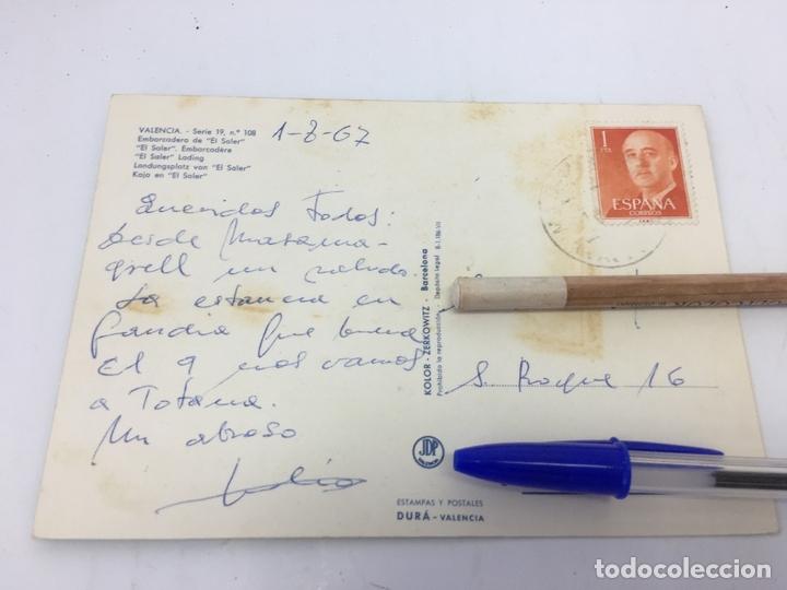 Postales: POSTAL DE EMBARCADERO DE EL SALER (VALENCIA)- CURSADA 1967 - Foto 2 - 170422056