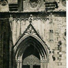 Postales: GANDIA-COLEGIATA PUERTA PRINCIPAL-FOTOGRÁFICA AÑO 1911-MUY RARA. Lote 171310924