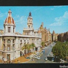 Postales: POSTAL PLAZA DEL CAUDILLO/ AYUNTAMIENTO DE VALENCIA AÑOS 70. Lote 171372855