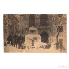 Postales: IBI.(ALICANTE).- FUENTE HELADA, DETRAS EL NUEVO CASINO. POSTAL FOTOGRÁFICA.. Lote 171595935