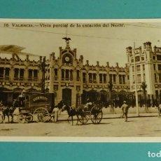 Postales: POSTAL REPRODUCCIÓN ACTUAL. VISTA PARCIAL DE LA ESTACIÓN DEL NORTE. VALENCIA 1915. Lote 171639160