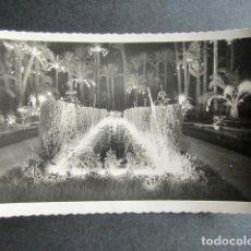 Postales: POSTAL ALICANTE. ELCHE. EL PARQUE. FUENTE ILUMINADA. AÑO 1956. . Lote 171662898
