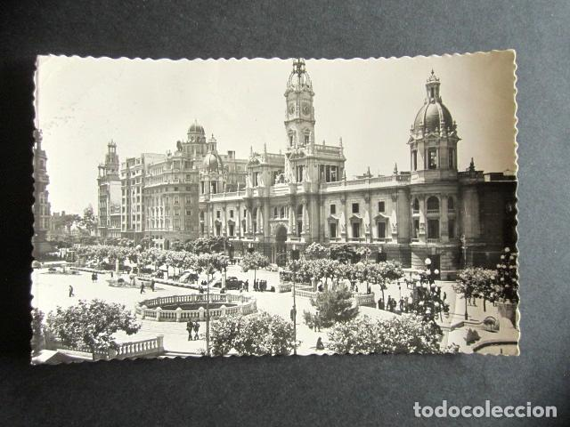 POSTAL VALENCIA. AYUNTAMIENTO. AÑO 1954. (Postales - España - Comunidad Valenciana Moderna (desde 1940))