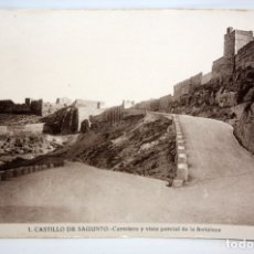 Postales: FOTO POSTAL DEL CASTILLO DE SAGUNTO (VALENCIA). VISTA PARCIAL. FOTOGRAFIA ROISIN. SIN CIRULAR. Lote 172454159