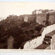 Postales: FOTO POSTAL DEL CASTILLO DE SAGUNTO (VALENCIA). VISTA DE LA CIUDADELA. FOT. ROISIN. SIN CIRCULAR. Lote 172455403