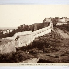 Postales: FOTO POSTAL DEL CASTILLO DE SAGUNTO (VALENCIA). PLAZA DEL 2 DE MAYO. FOT. ROISIN. SIN CIRCULAR. Lote 172455603