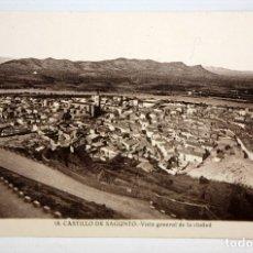 Postales: FOTO POSTAL DEL CASTILLO DE SAGUNTO (VALENCIA). VISTA GENERAL DE LA CIUDA. FOT. ROISIN. SIN CIRCULAR. Lote 172455912