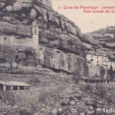 Postales: ZORITA DEL MAESTRAZGO (CASTELLON) SANTUARIO DE LA BALMA - VISTA TOMADA DEL SUR. Lote 172887655
