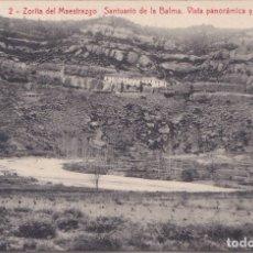 Postales: ZORITA DEL MAESTRAZGO (CASTELLON) SANTUARIO DE LA BALMA - VISTA PANORAMICA Y RIO BERGANTES. Lote 172887722