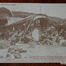 Postales: POSTAL DE ALTURA, CASTELLON, N. 20, LA HORA DEL POSTRE, DEPUES DE LA TIPICA PAELLA EN LA FIESTA DE N. Lote 173015665