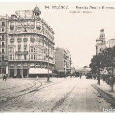 Postais: POSTAL VALENCIA AVENIDA AMALIO GIMENO . Lote 173016272