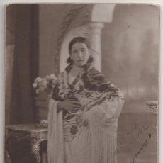 Postales: FOTOGRAFIA CHICA CON MANTON - TARJETA POSTAL - PHOTO GILARDI. Lote 174177923