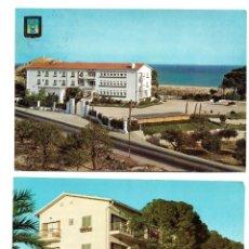 Postales: LOTE 2 POSTALES DE VILLAJOYOSA, UNA CIRCULADA - EDITADAS POR SUBIRATS CASANOVAS Y HNOS GALIANA. Lote 175124250