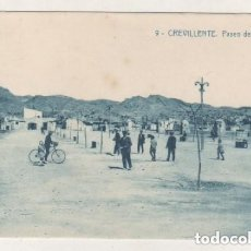 Postales: 9 CREVILLENTE PASEO DEL CALVARIO. 11567 FOTOTIPIA THOMAS. BARCELONA. EDICION C. MAS. SIN CIRCULAR.. Lote 175676642