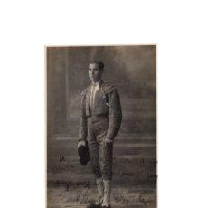 Postales: VALENCIA.- DEDICATORIA A FRANCISCO CARMONA. TORERO ALPARGATITO. 1922. AUTOGRAFO, FIRMA ORIGINAL.. Lote 175808895