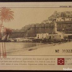 Postales: CTC - ANTIGUA POSTAL ENTRADA CASTELL DE PEÑISCOLA - COSTABA 200 PESETAS - TAMAÑO POSTAL. Lote 175902533