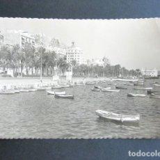Postales: POSTAL ALICANTE. PUERTO Y EXPLANADA DE ESPAÑA. . Lote 176095782