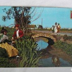Postales: ANTIGUA POSTAL VALENCIA TRAJES TÍPICOS FALLERA. Lote 176395229