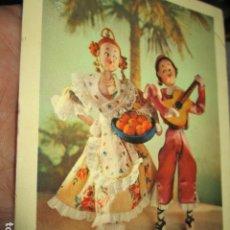 Postales: POSTAL ANTIGUA INFANTIL VALENCIA TRAJE TIPICO REGIONAL VALENCIANO JARABE MINERAL. Lote 58225026