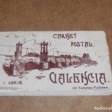 Postales: ALBUM DE POSTALES DE VALENCIA. 1ª SERIE. 20 TARJETAS. POSTALES JDP VALENCIA. Lote 177399508