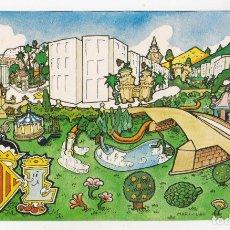 Postales: MARISCAL - POSTAL VALÈNCIA PARC DEL TÚRIA - MUY BUEN ESTADO. Lote 177608002