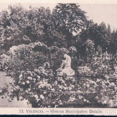 Postales: POSTAL VALENCIA - VIVEROS MUNICIPALES - DETALLE 13 JDP. Lote 179001335