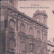 Postales: POSTAL VALENCIA - PALACIO DEL MARQUES DE DOS AGUAS - JDP. Lote 179002152