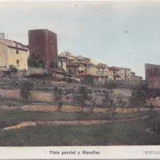 Postales: MORELLA (CASTELLON) - VISTA PARCIAL Y MURALLAS. Lote 179039942
