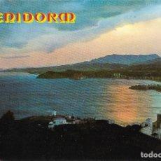 Postales: BENIDOR (ALICANTE) PUESTA DE SOL - FOTO RUEK Nº 851 - CIRCULADA. Lote 179093530