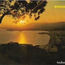Postales: BENIDOR (ALICANTE) PUESTA DE SOL - FOTO RUEK Nº 734 - CIRCULADA. Lote 179093613