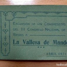 Postales: BLOC 20 POSTALES, LA VALLESA DE MANDOR, PATERNA RIBARROJA, VALENCIA, FOTOGRAFICAS . Lote 179155700