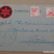 Postales: ALICANTE. LOCIONES, COLONIAS Y EXTRACTOS. POSTAL COMERCIAL A VITORIA. 1941. Lote 179236671