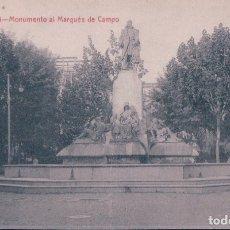 Postales: POSTAL VALENCIA - MONUMENTO AL MARQUES DE CAMPO - C Y A - CASTAÑEIRA Y ALVAREZ - CIRCULADA . Lote 179948243