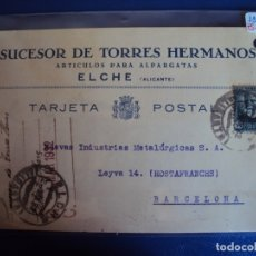 Postales: (PA-61871)POSTAL DE ELCHE-SUCESOR DE TORRES HERMANOS.ARTICULOS PARA ALPARGATAS. Lote 180009678