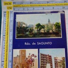 Postales: POSTAL DE VALENCIA. AÑO 1977. SAGUNTO, DETALLES DE LA CIUDAD, FALLAS. 603. Lote 180141008