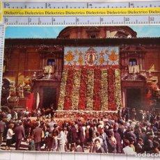Postales: POSTAL DE VALENCIA. AÑOS 70 60. PLAZA DE LA VIRGEN OFRENDA. 605. Lote 180141106