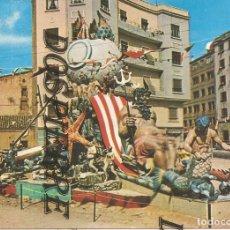 Postales: POSTAL, FALLA JUAN DE AGUILO-VALENCIA, FELICITACIÓN NAVIDAD 1966. Lote 180191387