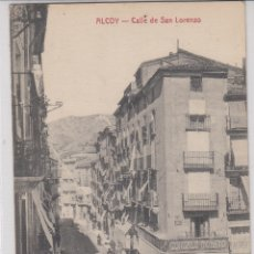 Postales: ALCOY ALICANTE. -CALLE SAN LORENZO. Lote 180236146