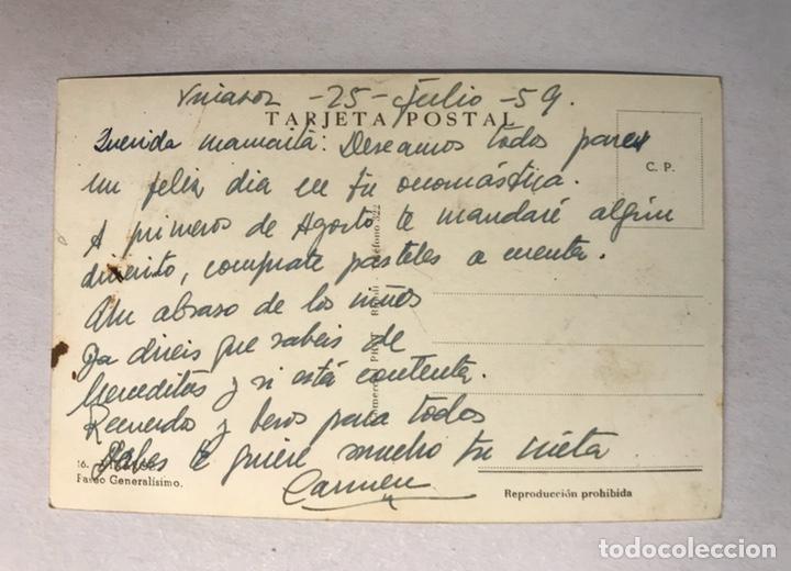 Postales: VINAROZ (Castellón) Postal No.16, Paseo Generalisimo. Edita: Comercial Prat (a.1959) Escrita - Foto 2 - 180239391