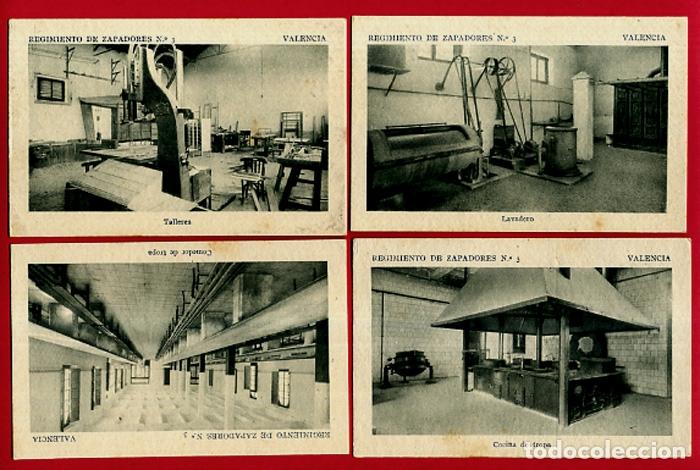 Postales: LOTE DE 34 POSTALES VALENCIA, REGIMIENTO MILITAR ZAPADORES Nº 3 , VER FOTOS, ORIGINALES - Foto 2 - 180259821
