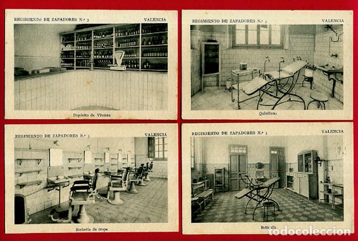 Postales: LOTE DE 34 POSTALES VALENCIA, REGIMIENTO MILITAR ZAPADORES Nº 3 , VER FOTOS, ORIGINALES - Foto 3 - 180259821