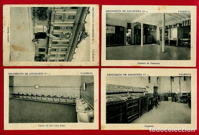 Postales: LOTE DE 34 POSTALES VALENCIA, REGIMIENTO MILITAR ZAPADORES Nº 3 , VER FOTOS, ORIGINALES - Foto 4 - 180259821