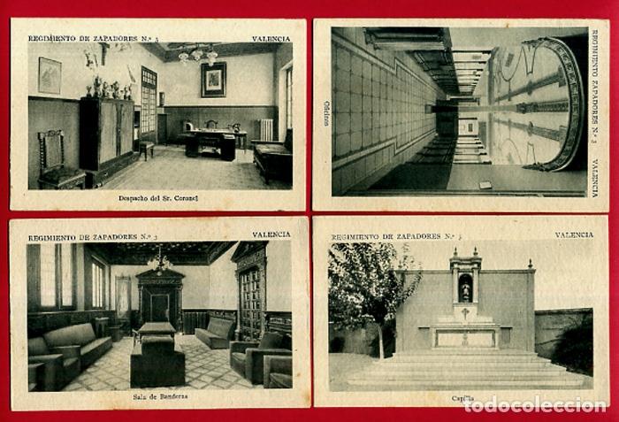 Postales: LOTE DE 34 POSTALES VALENCIA, REGIMIENTO MILITAR ZAPADORES Nº 3 , VER FOTOS, ORIGINALES - Foto 5 - 180259821