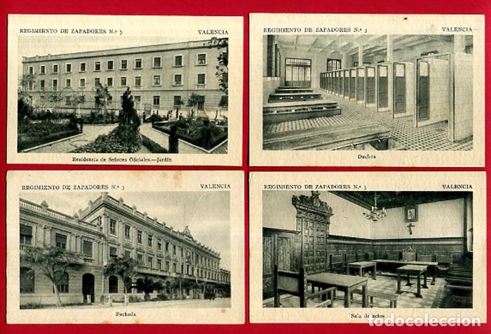 Postales: LOTE DE 34 POSTALES VALENCIA, REGIMIENTO MILITAR ZAPADORES Nº 3 , VER FOTOS, ORIGINALES - Foto 6 - 180259821