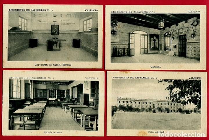 Postales: LOTE DE 34 POSTALES VALENCIA, REGIMIENTO MILITAR ZAPADORES Nº 3 , VER FOTOS, ORIGINALES - Foto 7 - 180259821