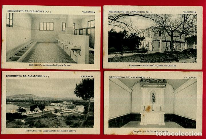 Postales: LOTE DE 34 POSTALES VALENCIA, REGIMIENTO MILITAR ZAPADORES Nº 3 , VER FOTOS, ORIGINALES - Foto 8 - 180259821