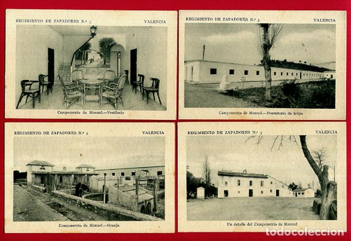 Postales: LOTE DE 34 POSTALES VALENCIA, REGIMIENTO MILITAR ZAPADORES Nº 3 , VER FOTOS, ORIGINALES - Foto 9 - 180259821