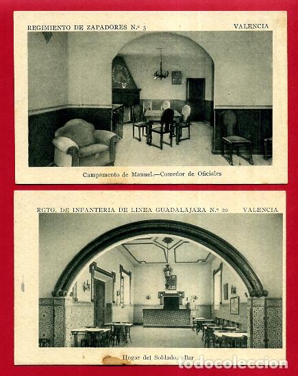 Postales: LOTE DE 34 POSTALES VALENCIA, REGIMIENTO MILITAR ZAPADORES Nº 3 , VER FOTOS, ORIGINALES - Foto 10 - 180259821