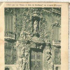 Postales: VALENCIA PALACIO MARQUES DE DOS AGUAS ESCRITA DORSO SIN DIVIDIR. Lote 180262073