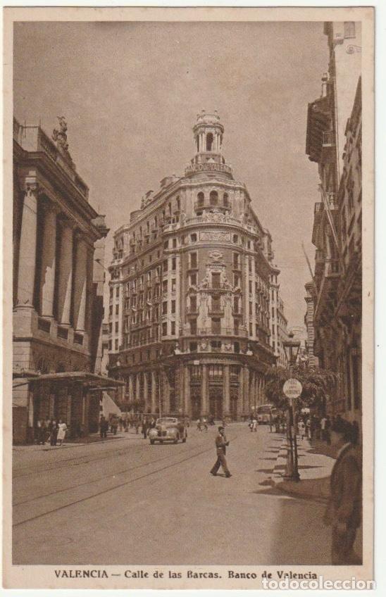 POSTAL VALENCIA CALLE DE LAS BARCAS - -R-7 (Postales - España - Comunidad Valenciana Moderna (desde 1940))